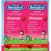 儿童感冒药Children's Benadryl Allergy Liquid, 16 Ounces